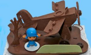 Pastelería Martín y su Pocoyo de chocolate
